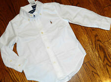POLO RALPH LAUREN ORIGINAL BOYS NEW WHITE DRESS SHIRT TOP Size M (10-12), NWT