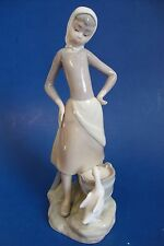 "Lladró Porcelain Figurine *Girl with Milk Pail* - 9 1/2"" H - Spain"