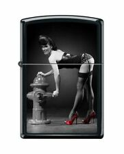 Zippo 1706 Red Shoes Woman in Lingerie Black Matte Lighter