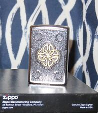 ZIPPOS (CELTIC KNOT) NEW DESIGN -GREAT LOOKING LIGHTER- ALREADY VERY POPULAR NIB