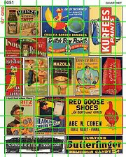 5051 DAVART PAINTS VINTAGE PICKLES CANDY GOOSE SHOES TRAINS CRACKERS 40'S 50'S