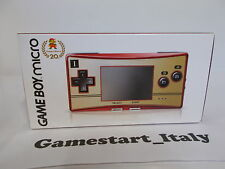 CONSOLE NINTENDO GAME BOY MICRO MARIO 20TH ANNIVERSARY EDITION - NUOVO - NEW