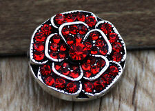 3D Rhinestone Drill Snaps Chunk Charm Button Fit For  Leather Bracelets B12