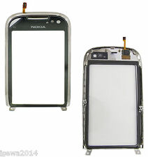 Genuine Nokia C7-00 Touch Screen Digitizer Lens Glass Front Cover with Frame SR