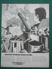 11/1981 PUB AIR FRANCE AIRLINE PREMIERE CHAMPAGNE ART DE VIVRE FRENCH AD
