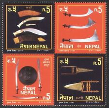 Nepal 1994 Swords/Knives/Shield/Weapons/Arms/Military 4v set blk (n38882)