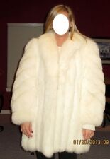 NORWEGIAN WHITE SHADOW FOX STROLLER FUR COAT JACKET BEAUTIFUL APPRAISED $3500 NR