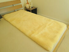 100% GENUINE MEDICAL SHEEPSKIN RECTANGULAR BED PAD - MAT - UNDERLAY - MATTRESS
