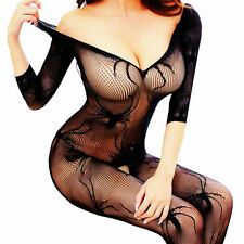 Mesh Big Fishnet Dress Bodystockings Body Stocking Bodysuit Nightwear Lingerie