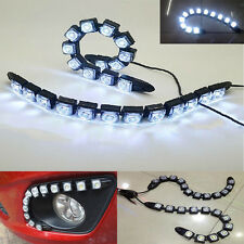 2x 12 Led Strip DRL Tape 12v Flexible Lights Headlights Ubgrade Tuning For Car