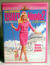 Legally Blonde 2: Red, White and Blonde (DVD, 2003, Valentine Faceplate, WS)