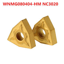 2pcs WNMG080404-HM NC3020 CNC Carbide Inserts Turning Tool Holder Inserts For St