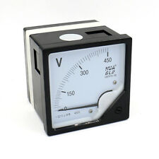 Analog Voltmeter 0-450V AC Voltage Panel Meter 6L2 1.5 Class Genauigkeit