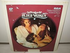"IN PRAISE OF OLDER WOMEN  -RCA SelectaVision Video MOVIE Disc   14"" X 13"""