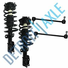 4pc Kit Both 2 Front Driver and Passenger Ready Strut Assembly + 2 Sway Bar Link