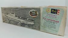 1961 Revell Atom Powered Merchant Ship Model Kit N/S Savannah Box w/ 2 Unknowns