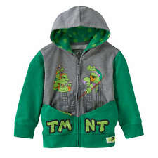 NEW boy TEENAGE MUTANT NINJA TURTLES zip-up POCKET FRENZ raphael HOODIE sz 3T