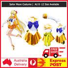 Sailor Moon Venus Yellow Sailormoon Costume Cosplay Uniform Fancy Dress + Gloves