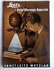 (s5) - Werbe Prospekt LEITZ Vergrößerungs-Apparate 1936