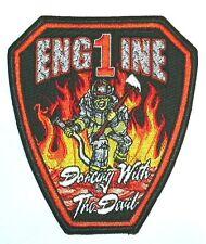 USA ENGINE 1 FEUERWEHR Aufnäher Patch fire Us