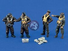 Verlinden 1/48 USAAF Bomber Aircraft Crew WWII (4 Figures and Gear) [Resin] 1386