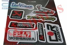 LEO VINCE DEMON AKRAPOVIC RACEFITYOSHIMURA DECALS STICKER SET MOTORBIKE SPARES2U