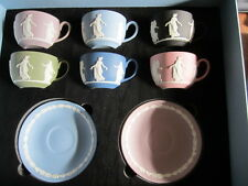 Wedgwood Dancing Hours 6 Cup & Saucer Set Mint In Box First Quality