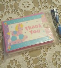 New and Sealed ~ Pack of 25 ~ 1ST PINK PONY ~ Thank You Cards With Envelopes