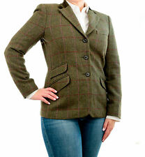 Ralph Lauren Chaps Polo Womens Wool Tweed Hacking WindowPane Blazer Jacket 16W