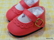 """HOT PINK Mary Jane DOLL DRESS SHOES fits American Girl 14.5"""" WELLIE WISHERS DOLL"""