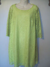 NEW LADIES EVANS LIME GREEN LACE TUNIC DRESS SIZE UK 14/16 EUR 42 US 10 BNWT