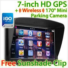 """7"""" GPS Car Navigation Wireless Reverse Camera Sat Nav HD Portable iGO Primo OZ"""