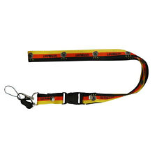 GERMANY DEUTSCHER FUSSBALL-BUND LOGO , COUNTRY FLAG LANYARD KEYCHAIN PASSHOLDER