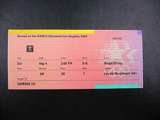 1984 Los Angeles Olympic Ticket Stub   Weightlifting - 04 AUG