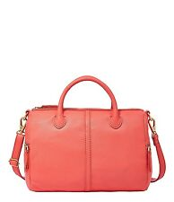 NWT Fossil Erin Pink Leather Satchel Crossbody Convertible Bag New -  ($218)