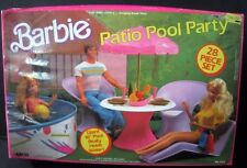 RARE Barbie Patio Pool Party Set Vintage 1988 Hard to Find Doll 7323 Collectible