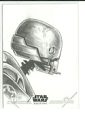Topps Star Wars Rogue One Series 2 K-2SO Sketch Card by Mark Mangum