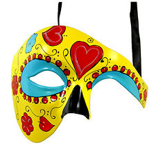 Most Popular Phantom Yellow Masquerade Mask Day of the Dead Collection