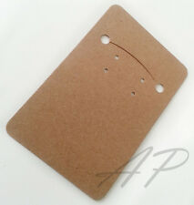 50 Blank Necklace Earrings Kraft Paper Display Card for DIY Jewelry Gift Packing