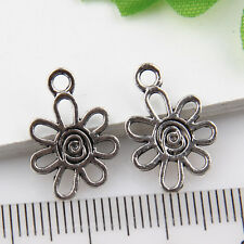 400Pcs Wholesale Zinc Alloy Small Flower Charms Pendants 13x11mm 1A1877