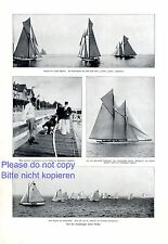 Kiel Week 1910 1 Page photo images Sailing Boat Westward Orion Cicely Hamburg