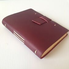 RUSTICO Parley Leather Journals Diary Notebook Christmas GiftsBurgundyBuckle