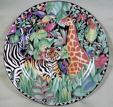 Sakura Sue Zipkin Magic Jungle 1995 Ultra Porcelain Leopard Salad Plate 8-1/8""