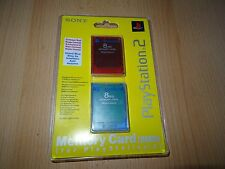 PlayStation 2 Ps2 Original 8MB Memory Card Twin Pack Blister Sealed - Red & Blue