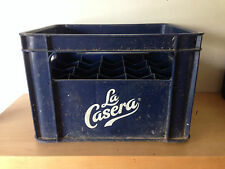 Used BOX for 20 bottles LA CASERA  CAJA para 20 botellas Blue Plastic Azul Usada