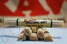 "Lots of 6 (4.75""x 3.25"") AUTHENTIC Raw All Natural Bamboo Cigarette Rolling Mats"