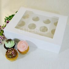 25 Counts of White Window Cupcake Box with 12 Cupcake Holder($2.3 Per Count)