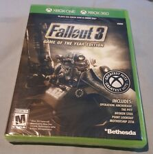 FALLOUT 3 GAME OF THE YEAR WITH EXPANSIONS XBOX 360 AND XBOX ONE FACT SEALED NEW