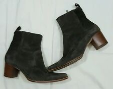 Timberland Women's Size 9M Tasa Comforia Soft Suede Brown High Heeled Boots EUC