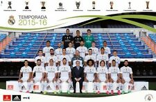 REAL MADRID - 2016 TEAM POSTER - 22x34 FOOTBALL SOCCER RONALDO 14460